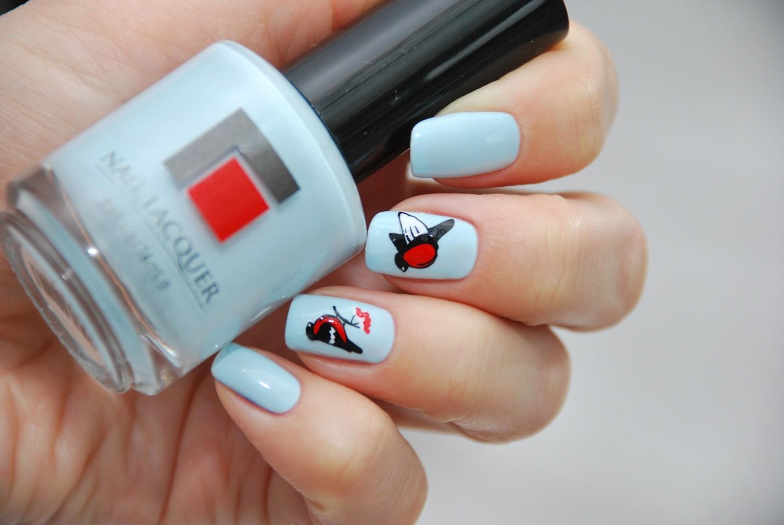 Как сделать ногти гелем с наклейками