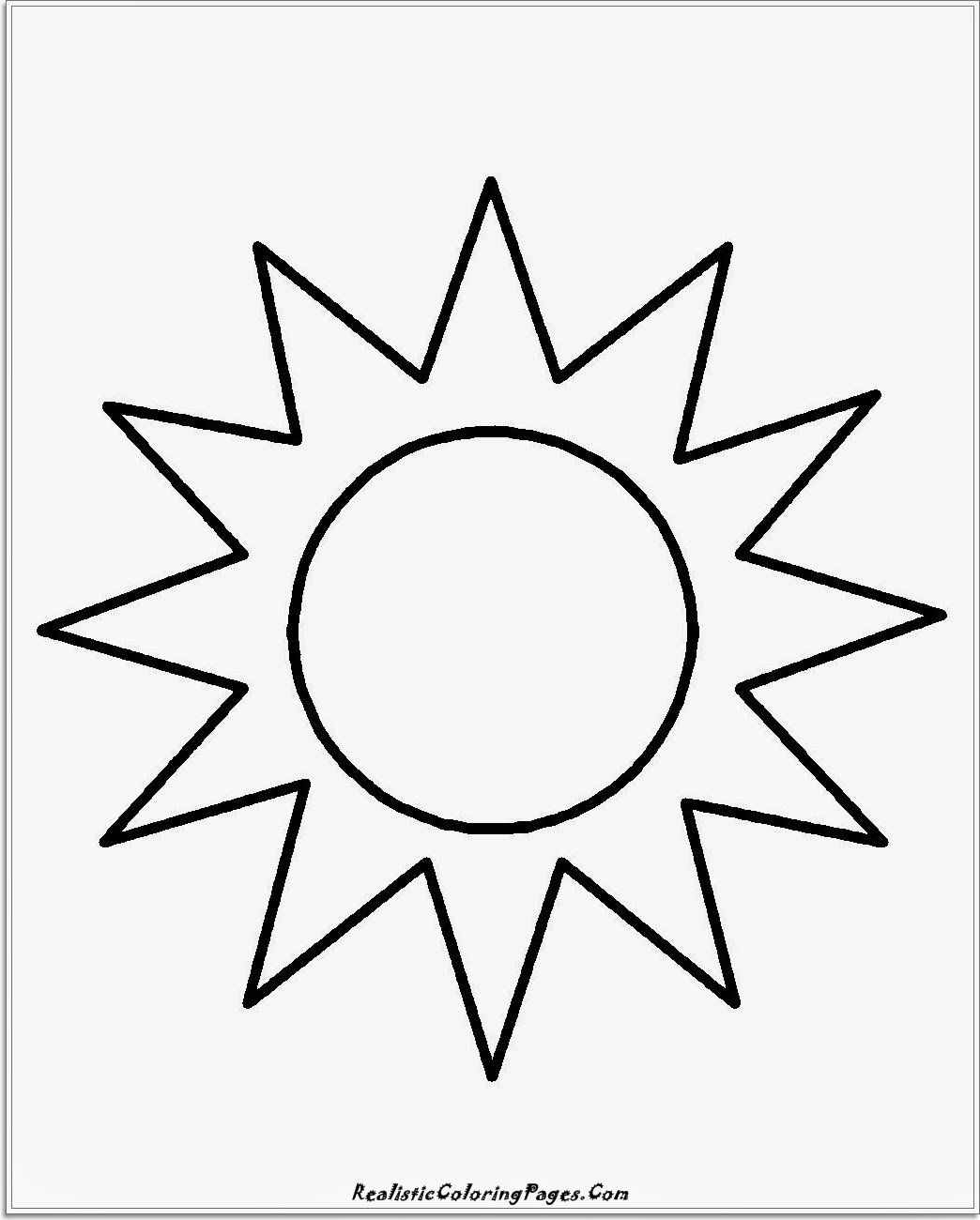 simple sun coloring pages