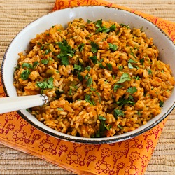 Baked Salsa Rice With Green Chiles, Lime, And Cilantro ...