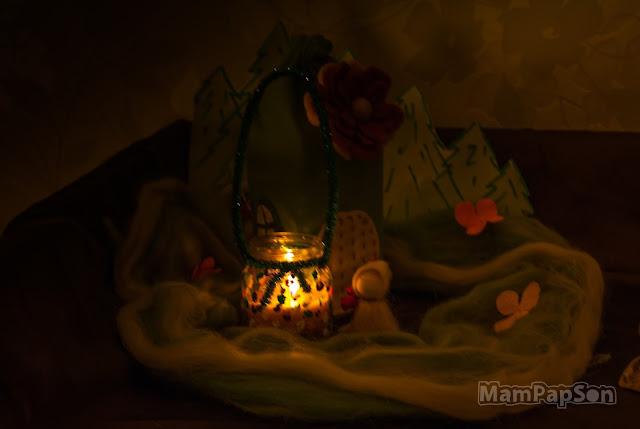Цветочный фонарик