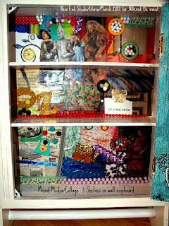 Altered Oz 2013 New End Studio mixed media cupboard