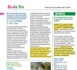 Salimos en la Revista Be de la Municipalidad de Berazategui