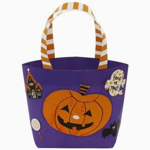 Halloween Bag Papercraft purple