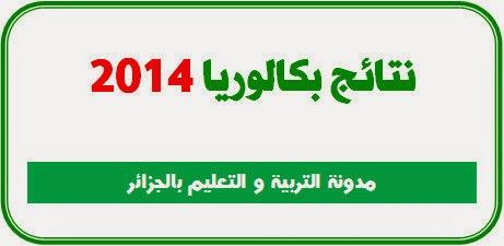 نتائج بكالوريا الجزائر 2014