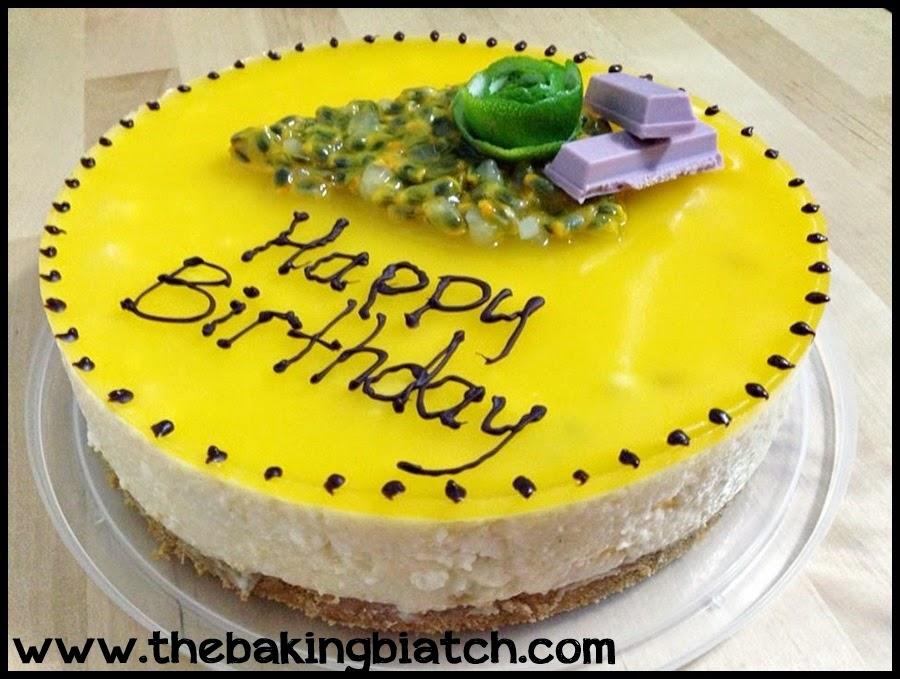 The Baking Biatch By Cynthia Lim Mango Passionfruit Tofu Cheesecake