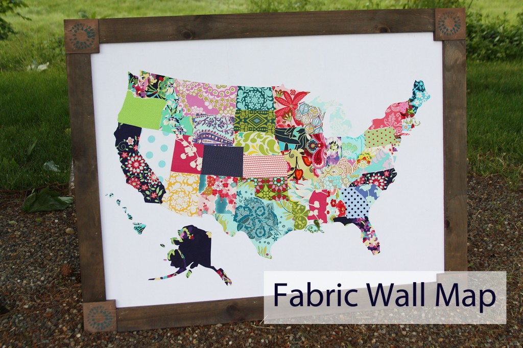 Fabric wall map beingbrook first i started with a ton of fabric scraps and a road map from walmart i would suggest using a wall map because trying to cut out states from a road map gumiabroncs Gallery