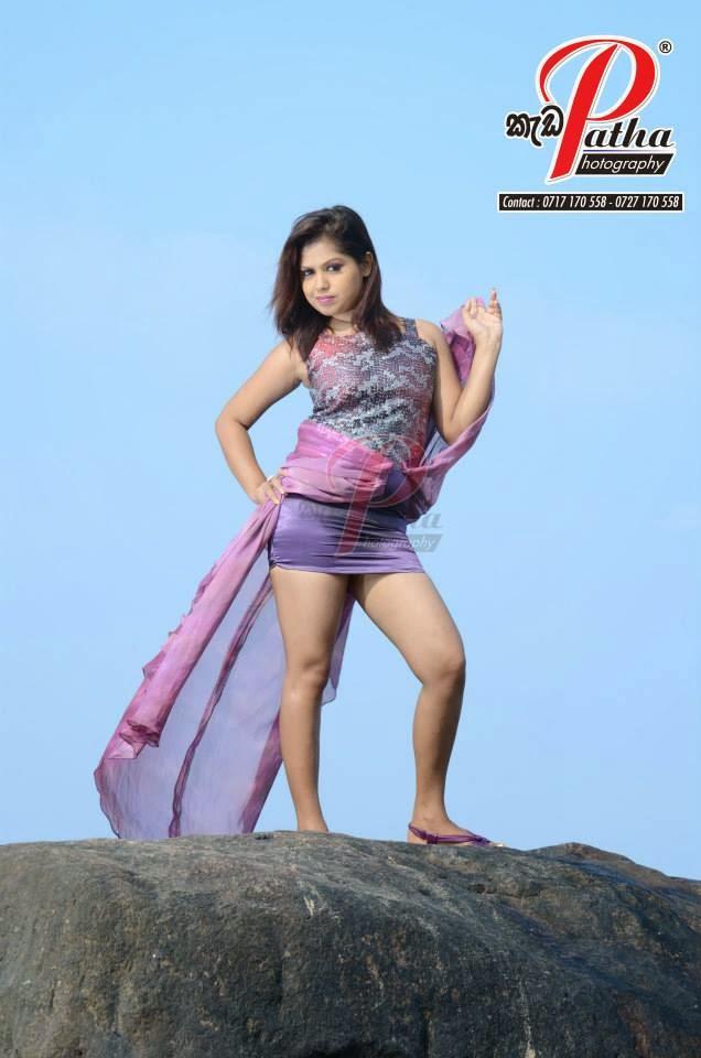 Tharu Arabewaththa sexy mini skirt