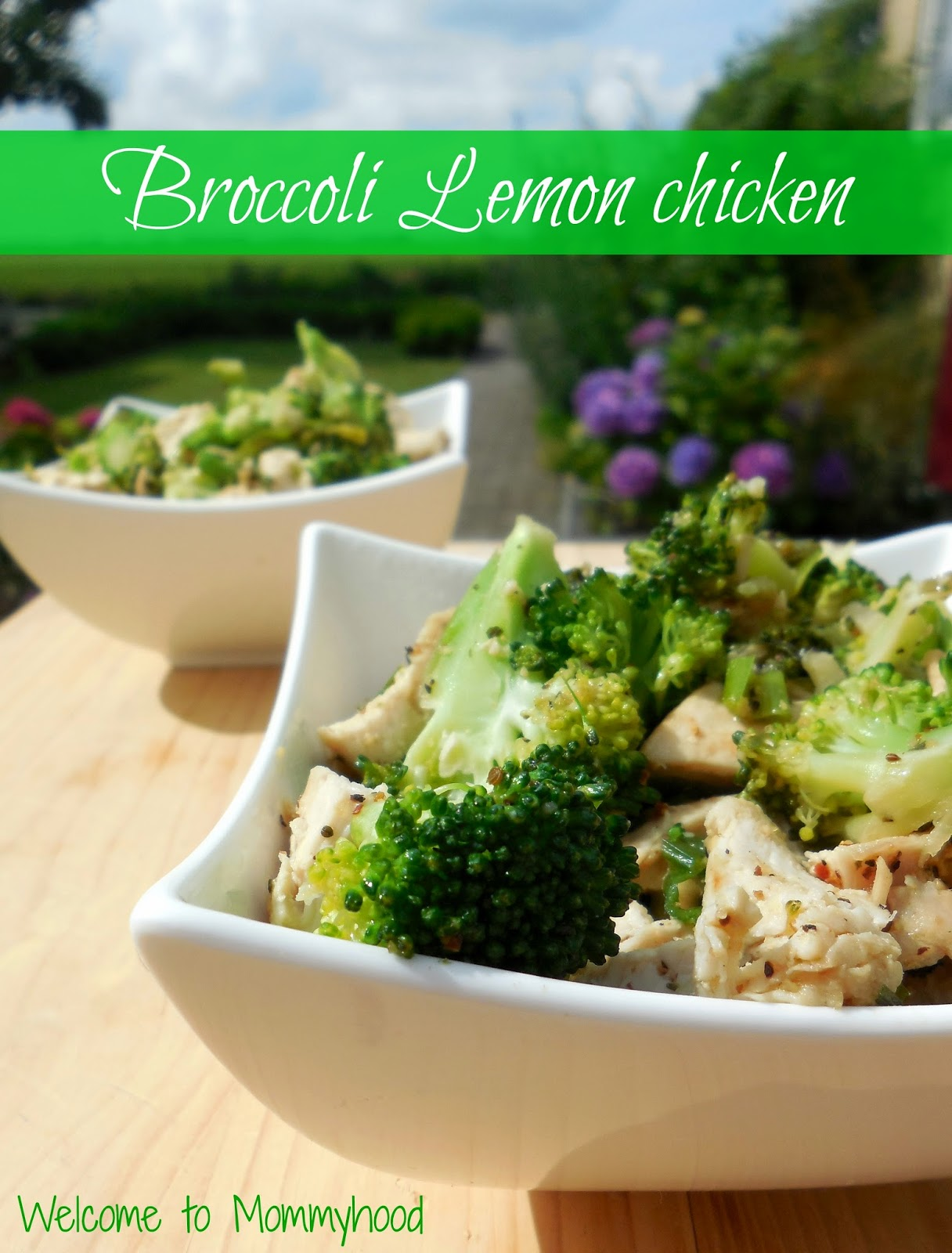 Easy healthy recipes: Broccoli lemon chicken by Welcome to Mommyhood