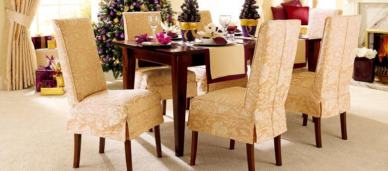 Fundas de sillas y comedor nuevo interiores por - Fundas sillas comedor ...