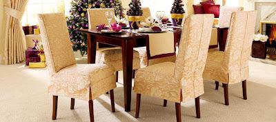 Fundas de sillas y comedor nuevo interiores por - Forro para sillas de comedor ...