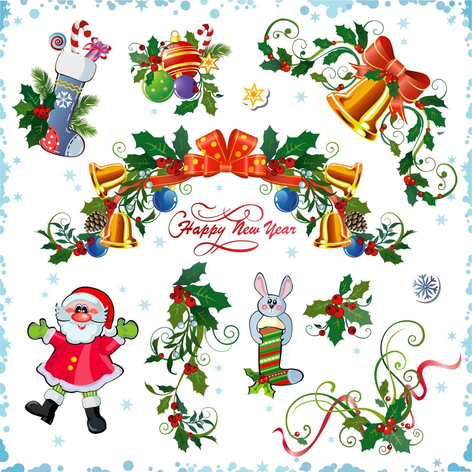 adornos navideos con fondo blanco para decorar su blog o pagina web en esta navidad