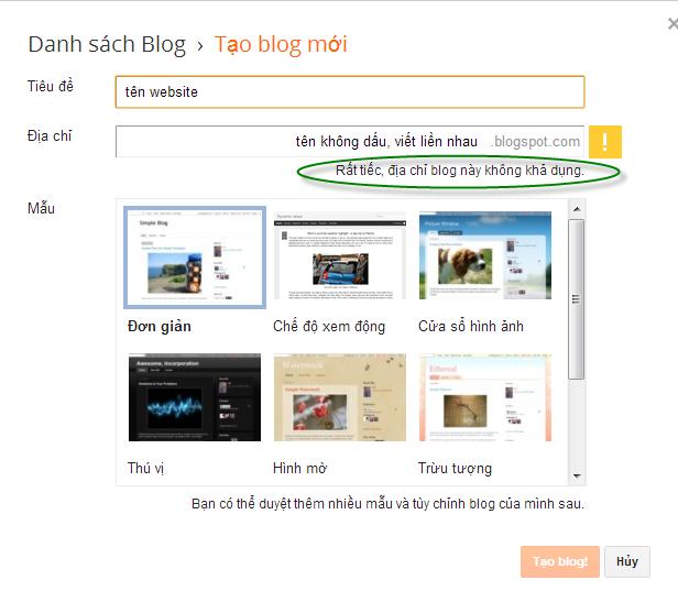 Hướng dẫn làm Website bằng Blogger cơ bản 3