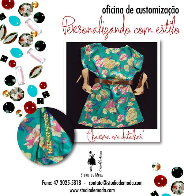 Studio de Moda Cláudia Alchini, Oficina de customização, Personalizando com estilo Jana Acessórios