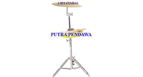 HARGA 1 SET SIMBAL MARAWIS (simbal, tamborin dan stand)