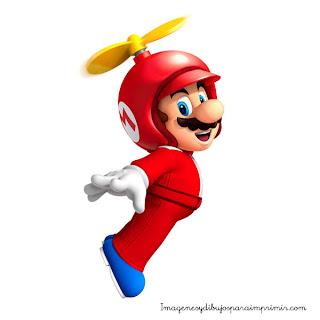 Mario volando Mario para imprimir