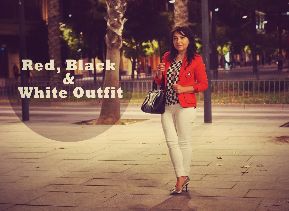 Red+Black+and+white+outfit