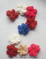 вязаные цветочки, материла для занятий