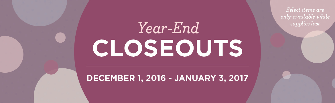 Year-End Closeout List