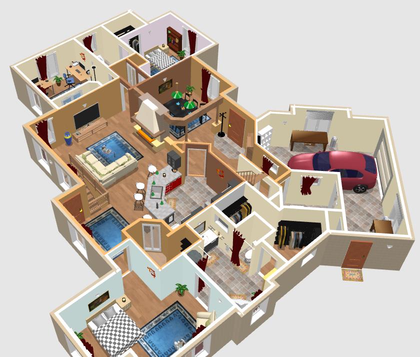 Как сделать крышу sweet home 3d