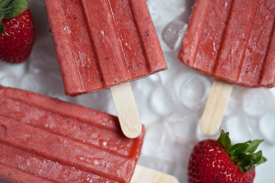 balsamic strawberry cream strawberry basil balsamic pops strawberry ...