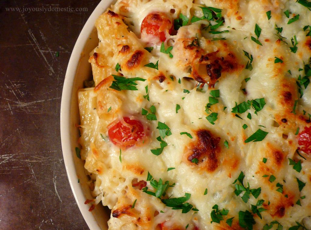 Baked pasta chicken cheese recipe