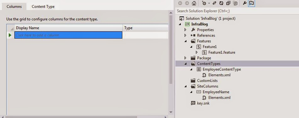 Content Type in Visual Studio 2012