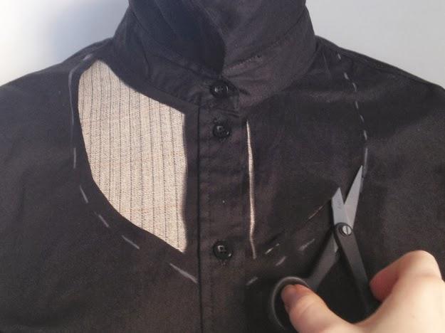 customizar camisa fazer decote na camisa