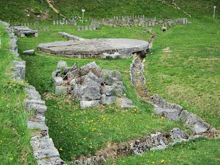 Citadel Sarmizegetusa Regia-   Water catchment system, solar disk and andesite sanctuaries