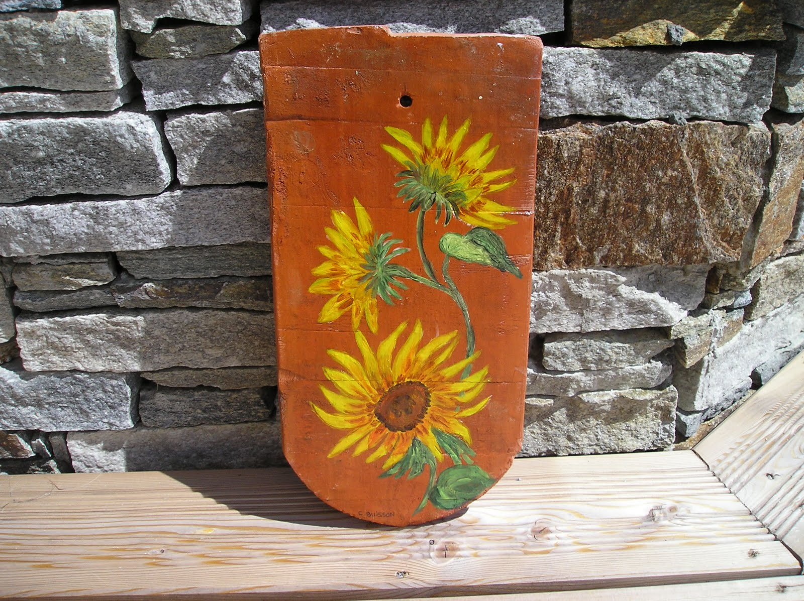 Art d co bois flott peinture d corative objets divers for Peindre sur bois