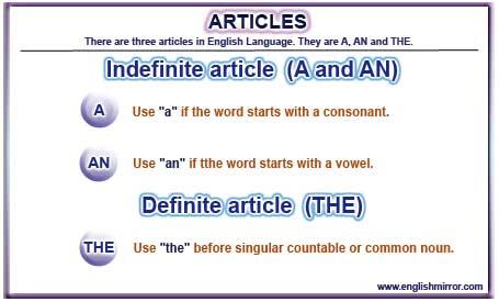 no article before noun