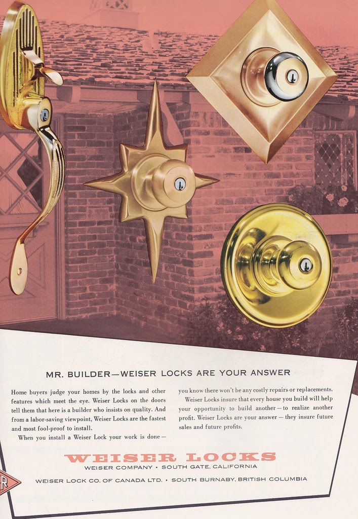 Weiser Mid Century Modern Door Knobs