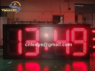 big outdoor led clock, large led timer