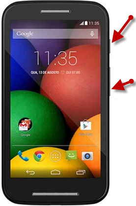 How To Take Screenshot On Moto E