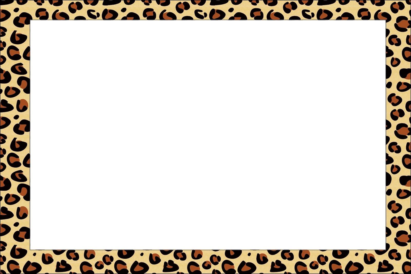 Cheetah Print Invitation for beautiful invitation template