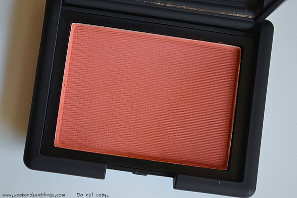 nars summer 2012 makeup collection beauty blog swatches Blush Liberté burnished apricot