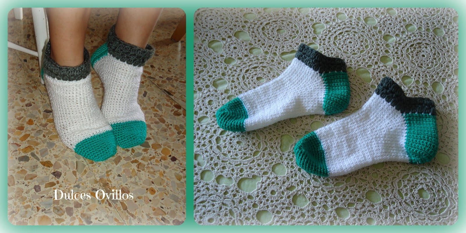 Dulces Ovillos: Calcetines a ganchillo - Crochet socks
