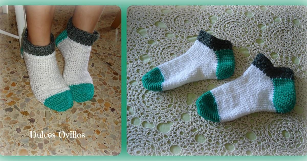 Dulces Ovillos: Calcetines a ganchillo - Crochet socks