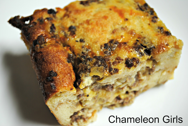 Chameleon Girls: Sausage Bread Pudding