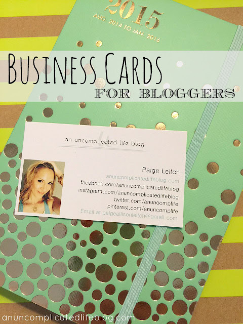 Business cards are an affordable way to market your blog and show sponors you're serious about your brand!