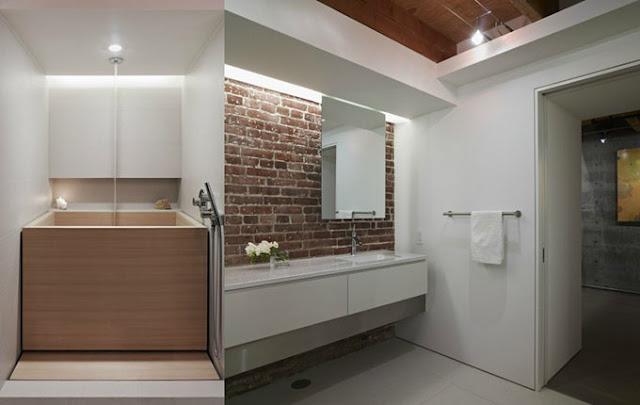 Ванная комната в квартире на старой фабрике