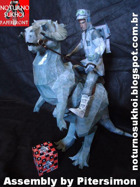 Star Wars - Tauntaun Papercraft