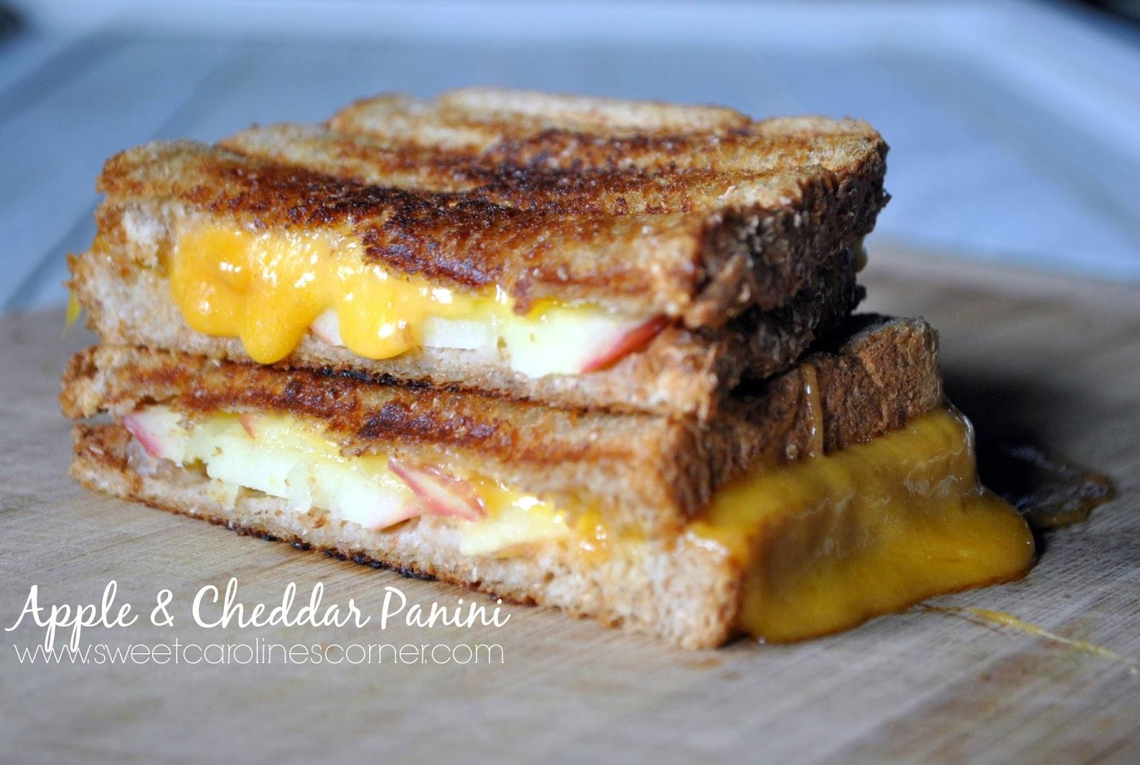 apple & cheddar panini (panini de maçã & queijo cheddar)