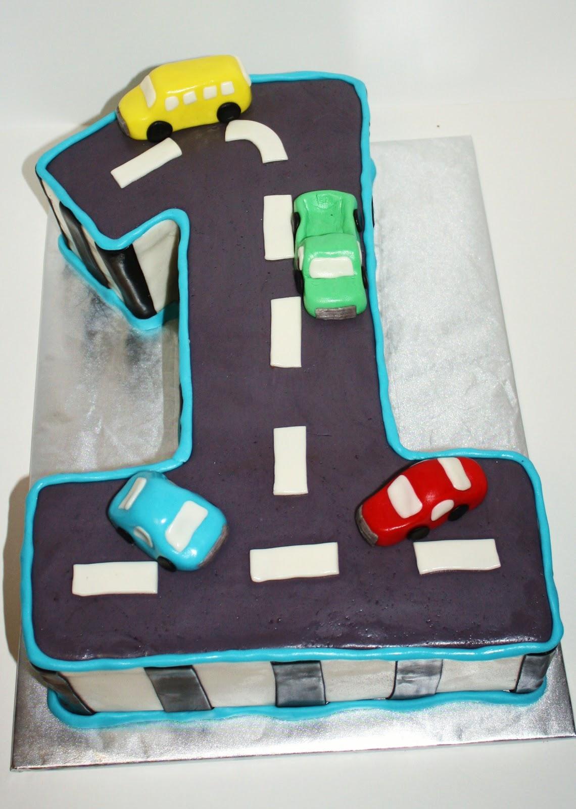 SAB Cakes Car first birthday cake