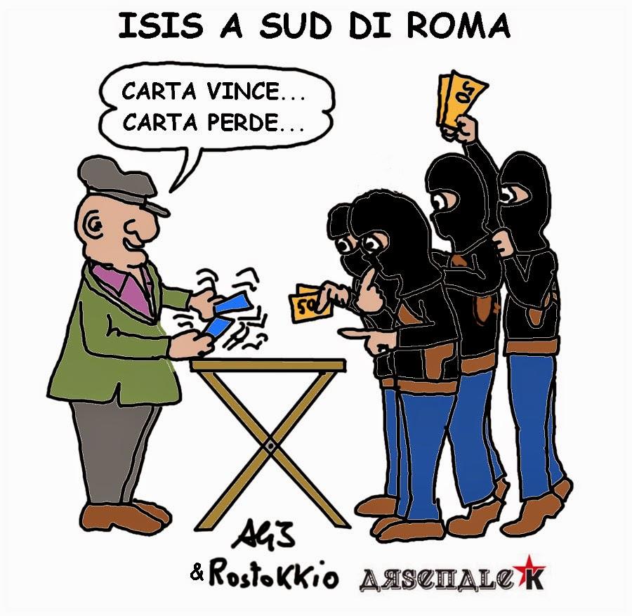 ISIS, Roma, vignetta , satira