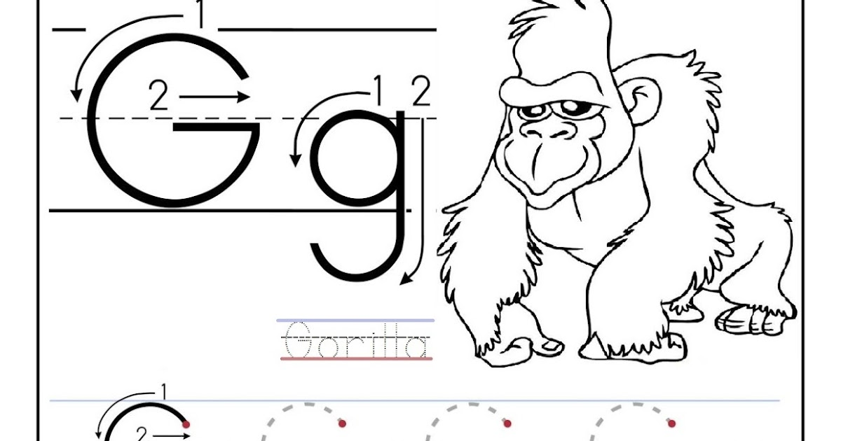 Free printable worksheet letter G for your child to learn and – Letter G Worksheets for Preschool