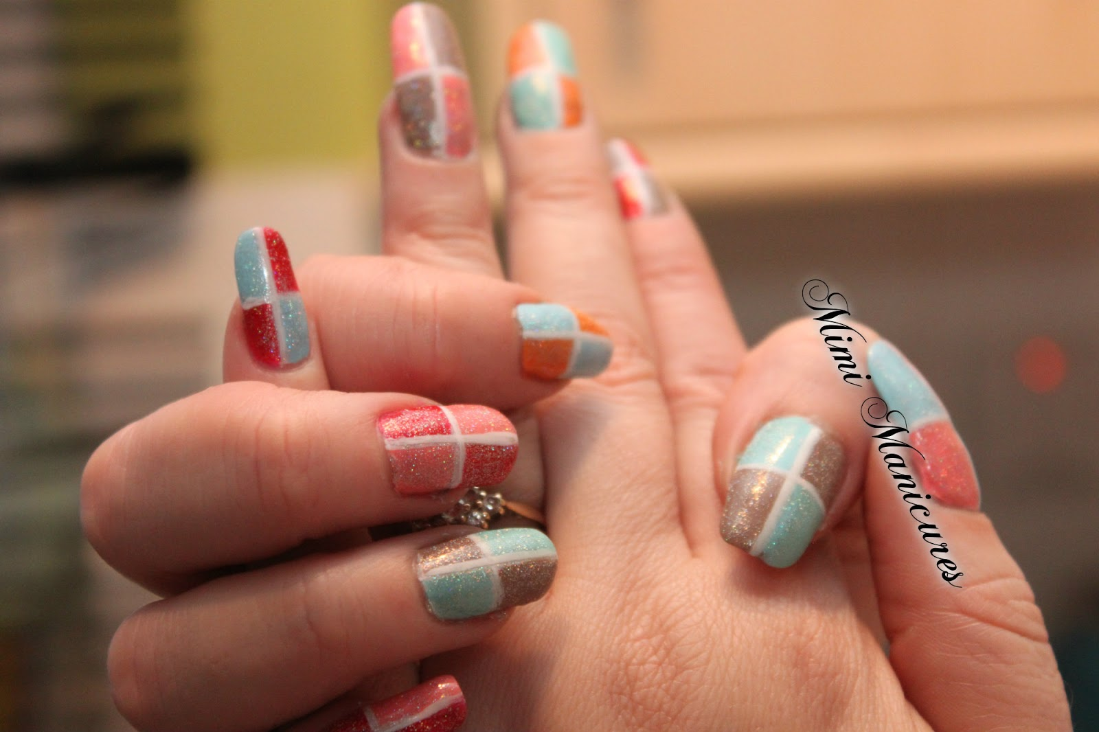 my adventures in nail polish: my cute square manicure...new spring ...