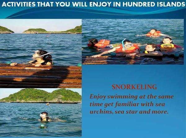 Activities in Hundred Islands