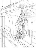 Mewarnai Gambar Spiderman