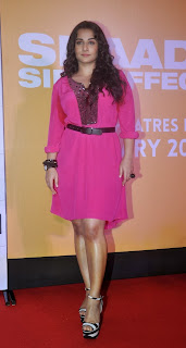 Actress Vidya Balan Pictures in Pink Short Dress at Shaadi Ke Side Movie Trailer Launch 0005.jpg