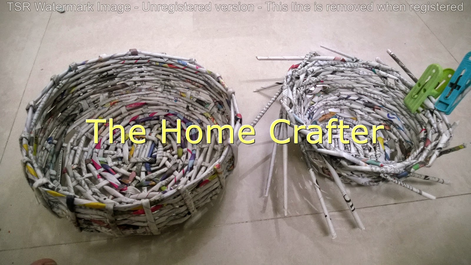Handicraft Newspaper Basket : The home crafter my newspaper baskets